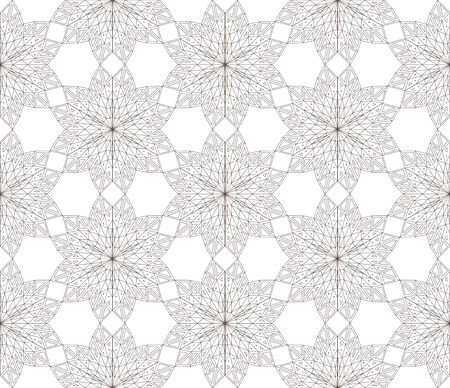 parametric: Seamless modern triangulated floral black and white ornament