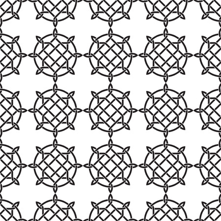 gothic style: Seamless black and white pattern with celtic traditional abstract ornament