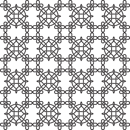 european culture: Seamless black and white pattern with celtic traditional abstract ornament