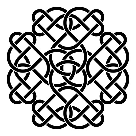Celtic traditional abstract ornament over white background Illustration