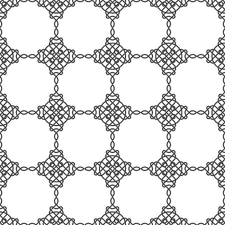 Seamless black and white pattern with celtic traditional abstract ornament