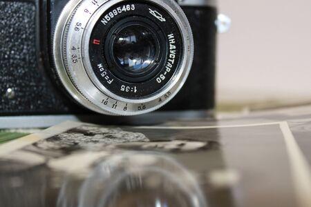 ancien appareil photo gros plan Banque d'images