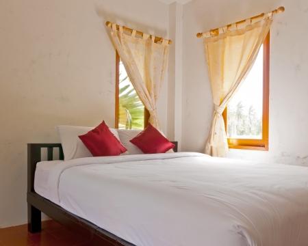 Bedroom interior on holiday