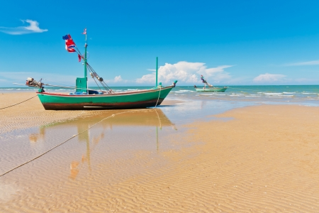 fishingboat: Fishingboat park at beauty beach Stock Photo