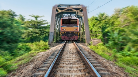 Train and railway transportation in Thailand Asia photo