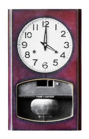 Four clock wood isolated on white background photo