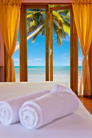 Bedroom at beach in Thailand Asia photo