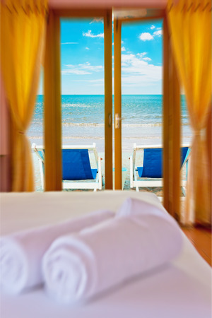 Room resort at white beach in Thailand photo
