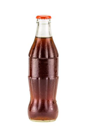 Cola bottle drink isolate on white background 스톡 콘텐츠