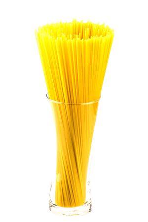 Spaghetti raw isolate on white background Stok Fotoğraf