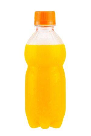 juice bottle: Orange juice bottle isolate on white background
