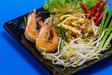 Padthai with shrimp tasty food from Thailand Asia Stock Photo