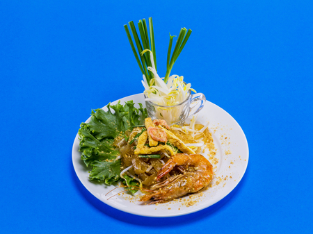 padthai: Padthai with shrimp tasty food from Thailand Asia Stock Photo