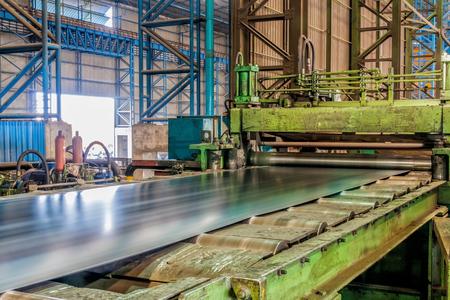 Usine laminatrice en acier industrielle en Asie Banque d'images