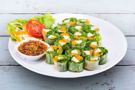 Fresh spring roll vietname food for lunch
