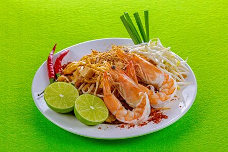 Padthai with shrimp tasty food from Thailand Asia Imagens