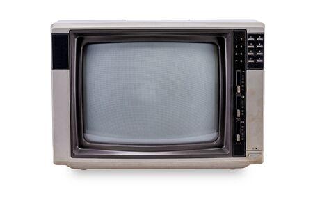 Styl vintage telewizji na białym tle Zdjęcie Seryjne