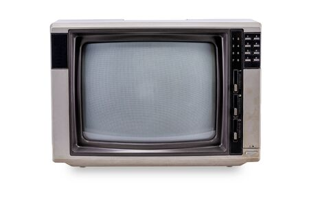 Television vintage style isolated on white background Фото со стока
