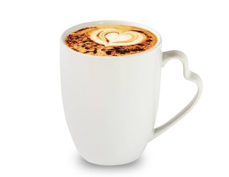Coffee love cup isolate on white background Imagens