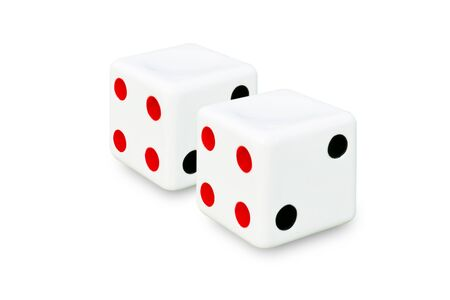 Dice chair isolate on white background