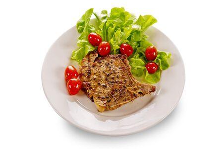 Pork steak isolate on white background