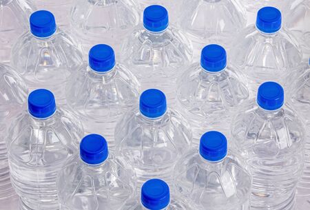 Water bottle pack isolated on white background Фото со стока