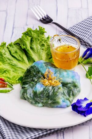 Vegetable snack butterfly pea Thailand food