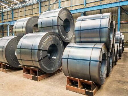 Steel hot roll coil at packing yard