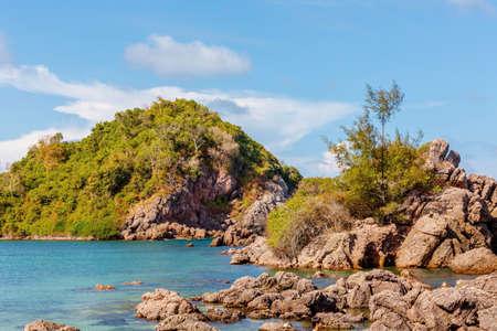 Beauty Island on daylight Prachuabkirikhan province , Thailand Asia
