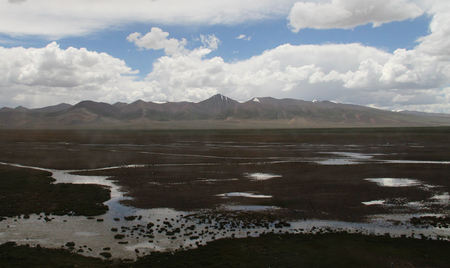 plateau: Qinghai-Tibet Plateau Stock Photo