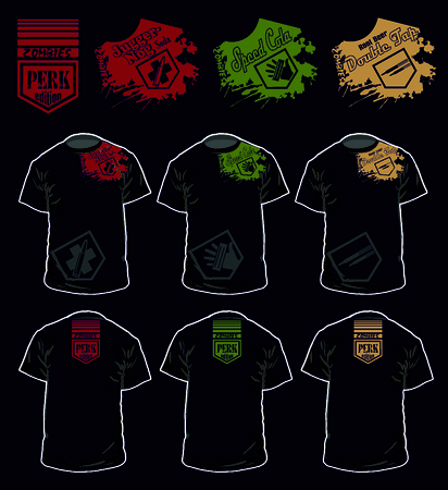 double tap: CoD perk version t shirt zombies series vector