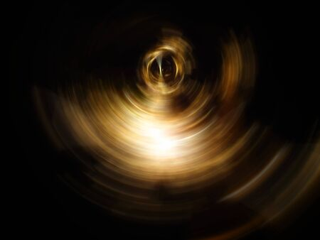 Abstract eye, abstract of golden spin for background used