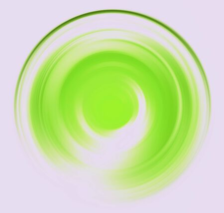 spin: Spin blur circle of bright light green abstract background Stock Photo