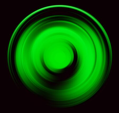 spin: Spin blur circle green abstract, black background