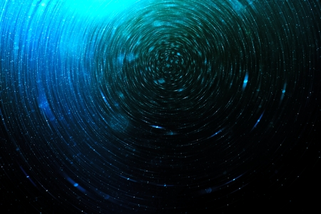 blue star: Blue Abstract science fiction futuristic background, blurred stars in space Stock Photo