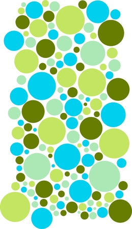 sticker design: cold colors green, olive, lime, turquoise, teal. Colorful circles of different sizes suitable for wall stickers on white background, abstract solution