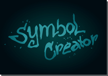 creator: el vector s�mbolo creador, fondo azul