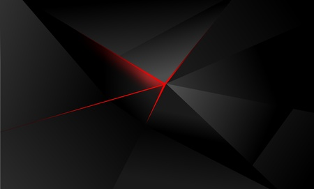 abstract polygon background, illuminating red light, shades of gray and black 写真素材