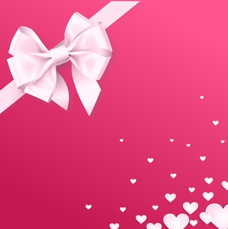 the valentine gift background with ribbon and similar heart