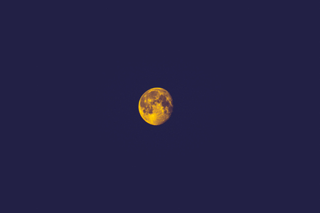 The Moon has an unusual gold colour