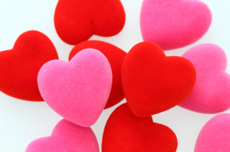 Red Hearts and Pink Hearts