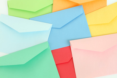 Colorful envelopes photo