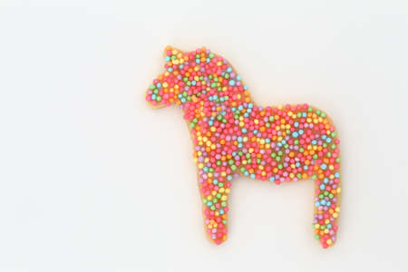 Horse cookie on white background 写真素材