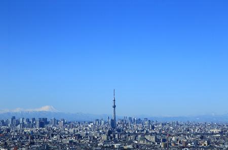 富士山と東京スカイツリー東京スカイライン