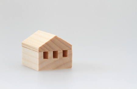 domiciles: Miniature house on white background