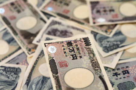 Japanese Yen Bills Currency of Japan Stock Photo
