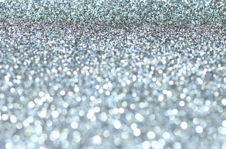 Abstract sparkling silver background Stock Photo