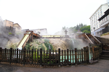 Kusatsu Onsen, a Famous hot spring resort in Japan