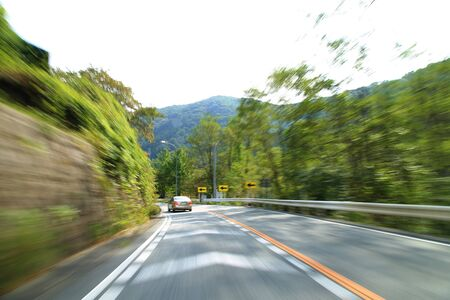 motion blur: Car driving, motion blur