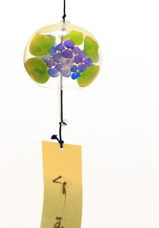 Japanese wind chime close up Stock Photo